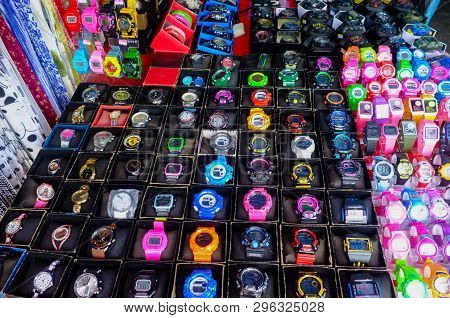 Kudat,sabah-feb 3,2018:counterfeit Or Fake Of Watches For Sales In The Street Of Kudat,sabah Borneo,
