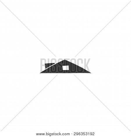Hand Drawn Isolated Illustration. Vector Homemade Logo Element, House Roof. For Business Identity An
