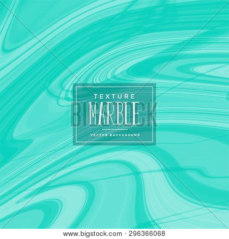 Abstract Turqoise Liquid Marble Pattern Vector Illustration