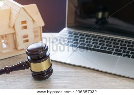 Lawyer Business Real Estate Property Agent, Home Loan Or Divorce. Concept Of Conflict Lawsuit From N
