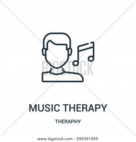 Music Therapy Icon Isolated On White Background From Theraphy Collection. Music Therapy Icon Trendy