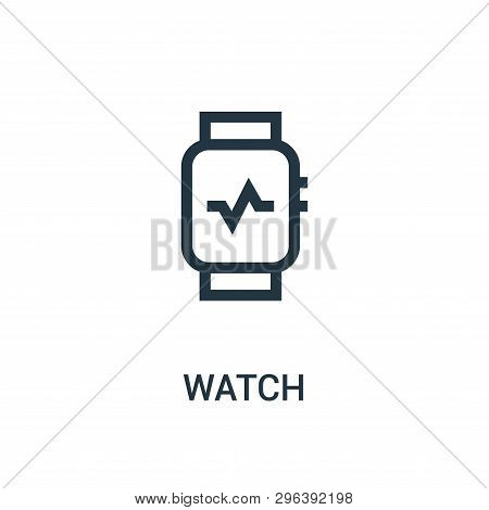 Watch Icon Isolated On White Background From Gym Collection. Watch Icon Trendy And Modern Watch Symb