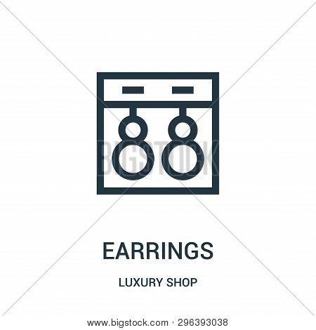 Earrings Icon Isolated On White Background From Luxury Shop Collection. Earrings Icon Trendy And Mod