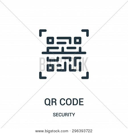 Qr Code Icon Isolated On White Background From Security Collection. Qr Code Icon Trendy And Modern Q