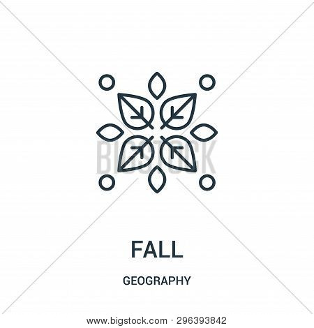 Fall Icon Isolated On White Background From Geography Collection. Fall Icon Trendy And Modern Fall S