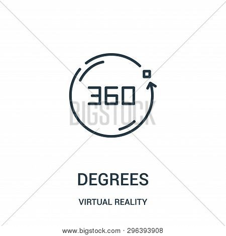 Degrees Icon Isolated On White Background From Virtual Reality Collection. Degrees Icon Trendy And M