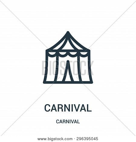 Carnival Icon Isolated On White Background From Carnival Collection. Carnival Icon Trendy And Modern