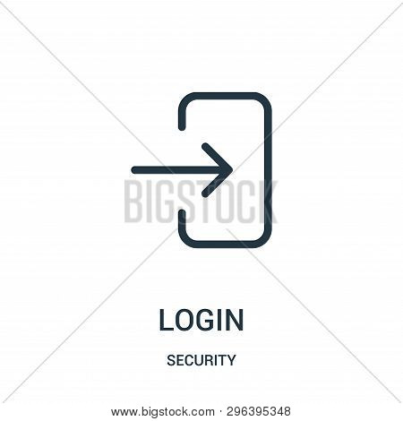 Login Icon Isolated On White Background From Security Collection. Login Icon Trendy And Modern Login