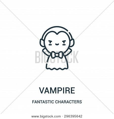 Vampire Icon Isolated On White Background From Fantastic Characters Collection. Vampire Icon Trendy