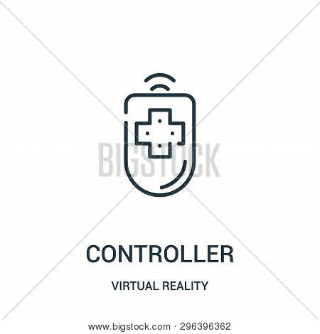 Controller Icon Isolated On White Background From Virtual Reality Collection. Controller Icon Trendy