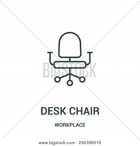 Desk Chair Icon Isolated On White Background From Workplace Collection. Desk Chair Icon Trendy And M