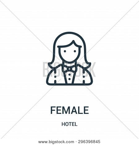 Female Icon Isolated On White Background From Hotel Collection. Female Icon Trendy And Modern Female