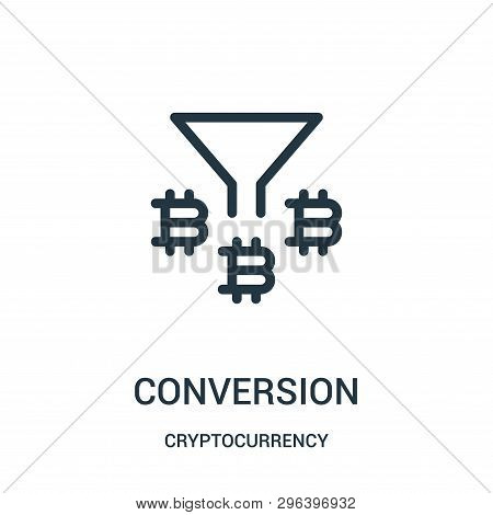 Conversion Icon Isolated On White Background From Cryptocurrency Collection. Conversion Icon Trendy