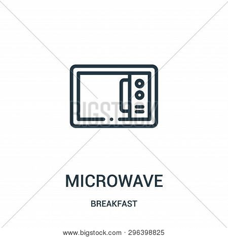 Microwave Icon Isolated On White Background From Breakfast Collection. Microwave Icon Trendy And Mod
