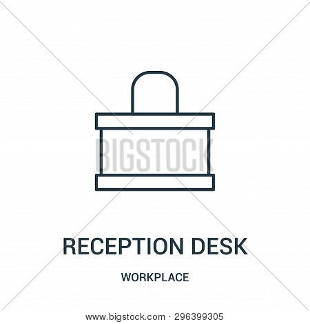 Reception Desk Icon Isolated On White Background From Workplace Collection. Reception Desk Icon Tren