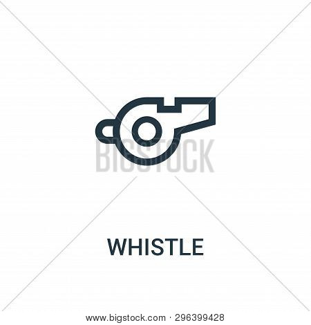 Whistle Icon Isolated On White Background From Gym Collection. Whistle Icon Trendy And Modern Whistl