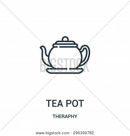 tea pot icon isolated on white background from theraphy collection. tea pot icon trendy and modern tea pot symbol for logo, web, app, UI. tea pot icon simple sign. tea pot icon flat vector illustration for graphic and web design. poster
