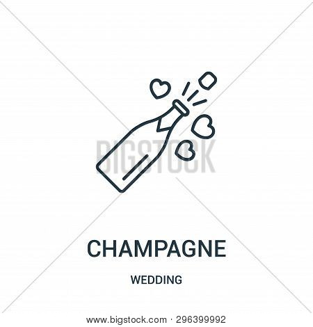Champagne Icon Isolated On White Background From Wedding Collection. Champagne Icon Trendy And Moder