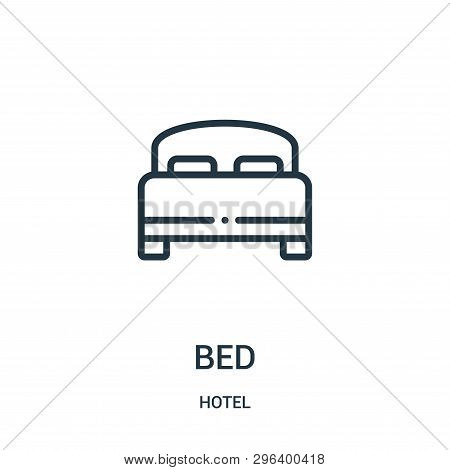 Bed Icon Isolated On White Background From Hotel Collection. Bed Icon Trendy And Modern Bed Symbol F