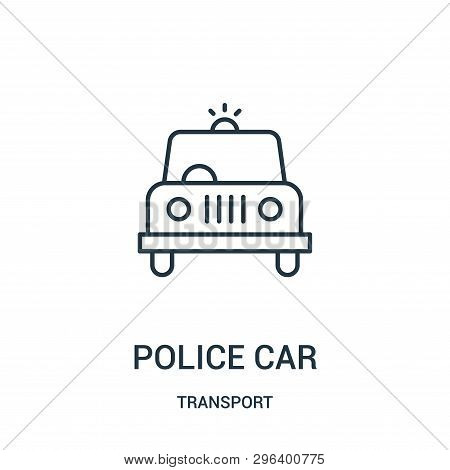 Police Car Icon Isolated On White Background From Transport Collection. Police Car Icon Trendy And M