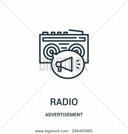 Radio Icon Isolated On White Background From Advertisement Collection. Radio Icon Trendy And Modern
