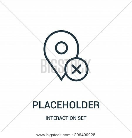Placeholder Icon Isolated On White Background From Interaction Set Collection. Placeholder Icon Tren