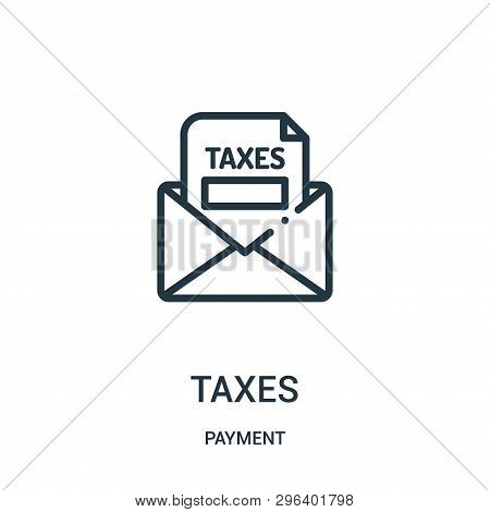 Taxes Icon Isolated On White Background From Payment Collection. Taxes Icon Trendy And Modern Taxes