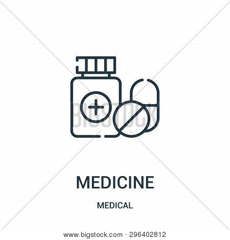 Medicine Icon Isolated On White Background From Medical Collection. Medicine Icon Trendy And Modern