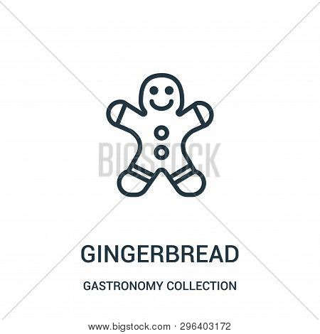 Gingerbread Icon Isolated On White Background From Gastronomy Collection. Gingerbread Icon Trendy An