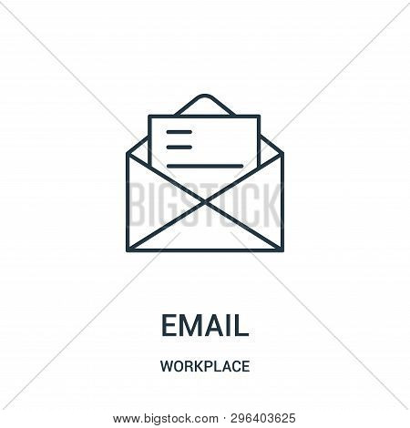 Email Icon Isolated On White Background From Workplace Collection. Email Icon Trendy And Modern Emai