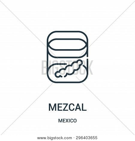 Mezcal Icon Isolated On White Background From Mexico Collection. Mezcal Icon Trendy And Modern Mezca