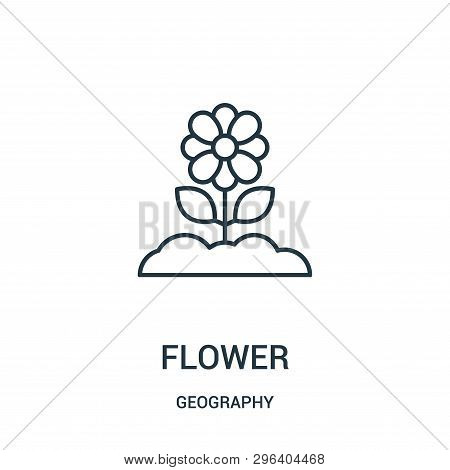 Flower Icon Isolated On White Background From Geography Collection. Flower Icon Trendy And Modern Fl