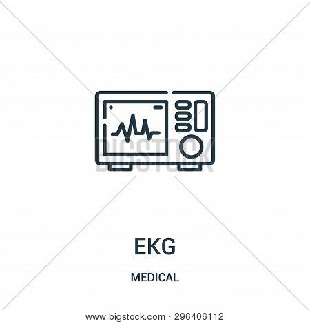 Ekg Icon Isolated On White Background From Medical Collection. Ekg Icon Trendy And Modern Ekg Symbol