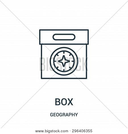 Box Icon Isolated On White Background From Geography Collection. Box Icon Trendy And Modern Box Symb