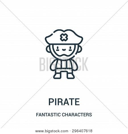 Pirate Icon Isolated On White Background From Fantastic Characters Collection. Pirate Icon Trendy An