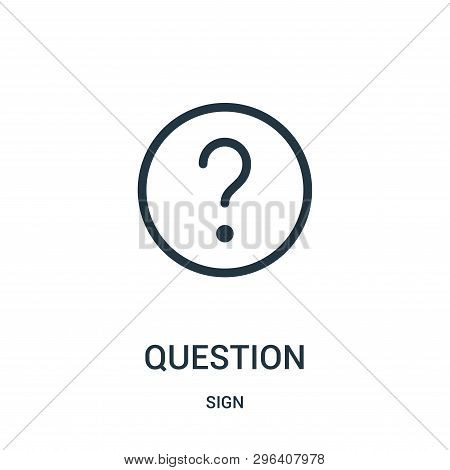 Question Icon Isolated On White Background From Sign Collection. Question Icon Trendy And Modern Que