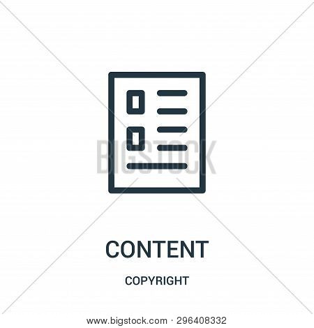 Content Icon Isolated On White Background From Copyright Collection. Content Icon Trendy And Modern
