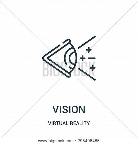 Vision Icon Isolated On White Background From Virtual Reality Collection. Vision Icon Trendy And Mod