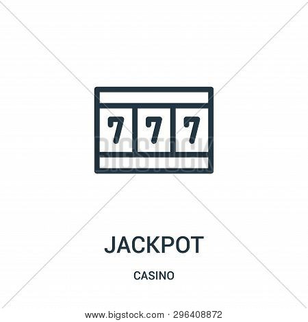 Jackpot Icon Isolated On White Background From Casino Collection. Jackpot Icon Trendy And Modern Jac