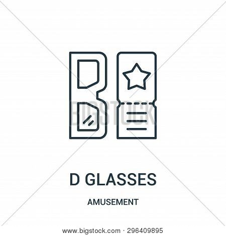 D Glasses Icon Isolated On White Background From Amusement Collection. D Glasses Icon Trendy And Mod
