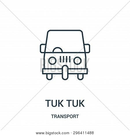 Tuk Tuk Icon Isolated On White Background From Transport Collection. Tuk Tuk Icon Trendy And Modern