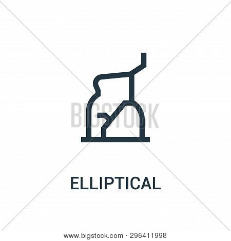 Elliptical Icon Isolated On White Background From Gym Collection. Elliptical Icon Trendy And Modern