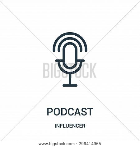 Podcast Icon Isolated On White Background From Influencer Collection. Podcast Icon Trendy And Modern