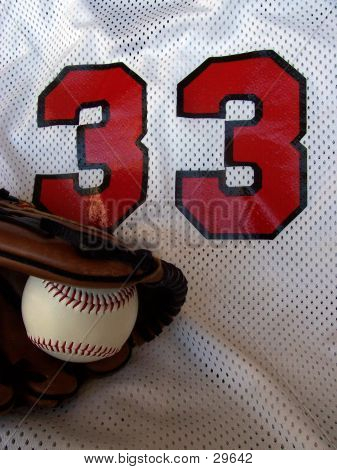 Ball, Glove, And Baseball Jersey