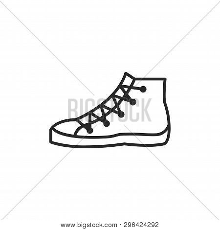 Shoe Icon Isolated On White Background. Shoe Icon In Trendy Design Style. Shoe Vector Icon Modern An