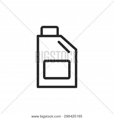 Oil Jerrycan Icon Isolated On White Background. Oil Jerrycan Icon In Trendy Design Style. Oil Jerryc