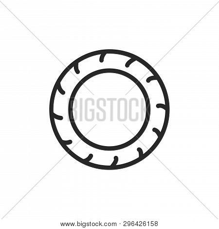Tire Icon Isolated On White Background. Tire Icon In Trendy Design Style. Tire Vector Icon Modern An