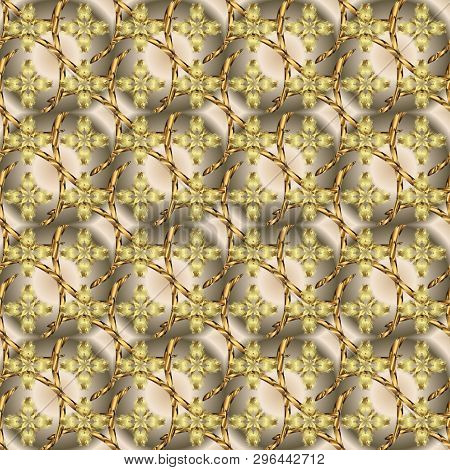 Doodles Beige And Neutral On Colors. Vector. Seamless Beautiful Fabric Pattern.