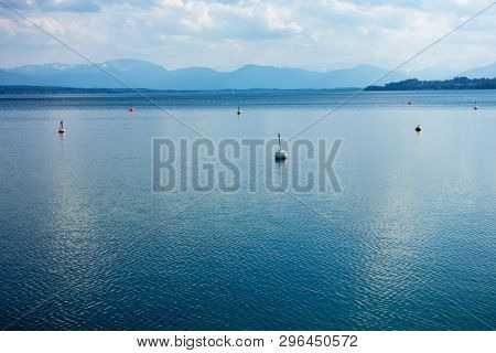 An image of a nice water surface Starnberg lake