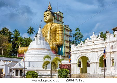Wewurukannala Buddhist Temple In Dickwella, Sri Lanka. A 50m-high Seated Big Buddha Statue Is The La